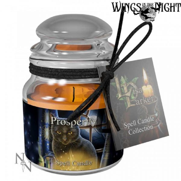 Lisa Parker PROSPERITY Spell Candle Jar by Nemesis Now